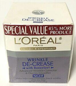L'oréal Wrinkle De-crease Corrector Smoother Night Anti-Aging Cream 2.5oz