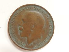 "1913 British One Penny ""George V"" Coin"