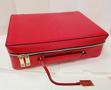Estee Lauder Red Makeup Cosmetic Bag Train Trave Case Box new