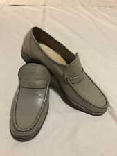 Karandonis Cream Leather Men's Loafers Shoes Size 8.5