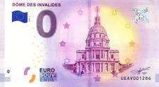 75007 Le Dôme des Invalides, 2018, Billet 0 € Souvenir