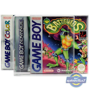 10 x Box Protectors for Game Boy Color Advance GameBoy STRONGEST 0.5mm Plastic