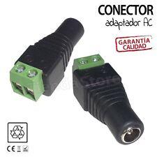Conector Adaptador DC hembra/macho para Transformador Tira led 12v 5050 3528