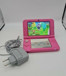 Nintendo 3DS XL Pink Handheld Console System Game and 4GB SD Card Charger as is