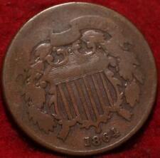 1864 Copper Philadelphia Mint Two Cent Coin