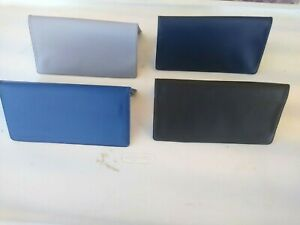 1 New Vinyl Checkbook Cover with Duplicate Flap Assorted Colors Select Your Own