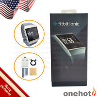 Fitbit IONIC Smartwatch Bands Activity Tracker GPS BLUE GRAY & SILVER GRAY
