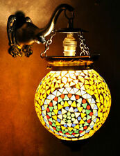 Vintage Wall Lamp Glass Mosaic Exclusive Decoration Indian Wall Sconce Light 13