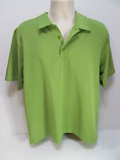 Under Armour Large Green Striped Heat Gear Polo/Rugby  Item #22D