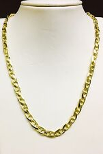18k Solid Yellow Gold Anchor Mariner Link chain/necklace 6 MM 52 Grams 22""