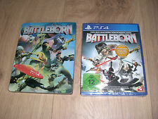 Battleborn-Steelbook Edition PLAYSTATION 4 ps4 NUOVO