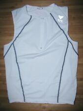 TYR Tri JERSEY Size MEDIUM Polyester Spandex SLEEVELESS Vest TRIATHLON White