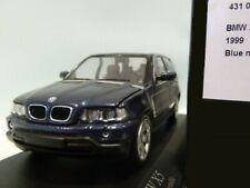 WOW EXTREMELY RARE BMW E53 X5 SUV 4.4i V8 32V 1999 Blue m 1:43 Minichamps-M3/GTR