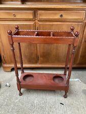Vintage Antique Style Brown Wooden Umbrella Stand