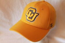 """Colorado Buffaloes FlexFit Hat Cap """"The Game Day Gold"""" by Zephyr NCAA Hats"""