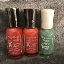 3~Sally Hansen Xtreme Wear Nail Color~Pink Boa, Caribbean Coral, Lime Lights~New