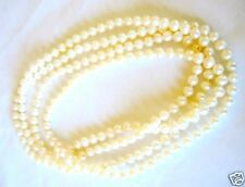 Genuine Fresh Water Cultured Pearl Strand Necklace 48 Inches