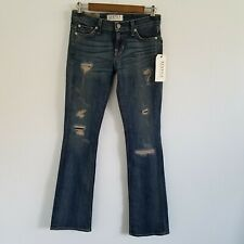 Elizabeth and James Textile Tyler Distressed Patches Jean's Womens Size 26 NWT