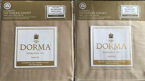 Dorma Cotton Satin Oxford Pillowcases 350 Thread Count 48cm X 76cm x 2 New Linen