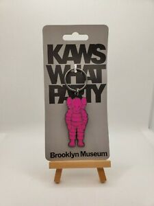 Art KAWS X Brooklyn Museum What Party  Keychain Pink