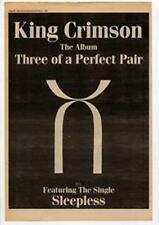 King Crimson Three Of A Perfect Pair Advert NME Cutting 1984