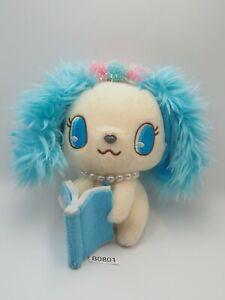 "Jewelpet B0801 SAPPHIRE Saffy Book SEGA 2010 Sanrio Plush 6"" Toy Doll Japan"