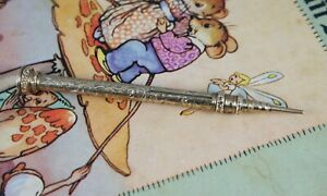 Edwardian rolled gold propelling pencil agate top antique early 1900's England