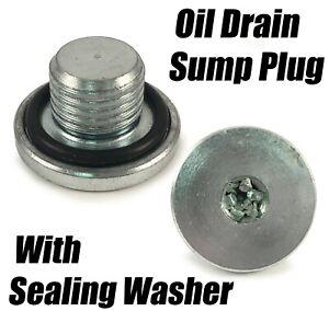 1x Engine Oil Sump Drain Pan Plug Bolt For Vauxhall Adam Agila Astra Calibra
