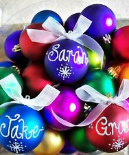 Personalised Christmas Baubles Handpainted Any Name 70mm  Xmas Tree  Gift Ball