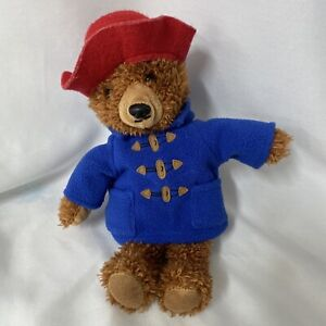"Yottoy Paddington Teddy Bear 11"" Plush Brown Stuffed Animal Toy Blue Coat"