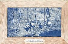 B44/ Toledo Ohio Postcard Lucas County c1910 Ottawa Park First Day of Spring