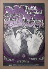 "Buffalo Springfield (Neil Young) &# 00006000 034;Bg122"" Original 1968 Fillmore Concert Poster"