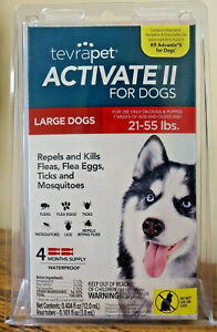 TevraPet Activate II for Large Dogs 21-55 lbs, 4 Month Supply. New, Sealed!