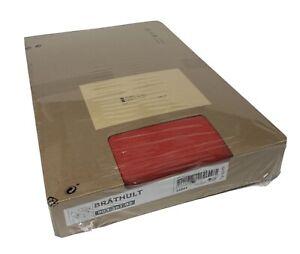 Ikea Brathult 3-Seat Corner Sectional Sofa Vissle Red-Orange 803.361.93 New