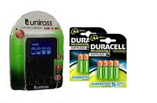 UNiROSS SMART FAST LCD CHARGER 8 x AA  DURACELL 2500 mAh RECHARGEABLE BATTERIES