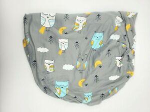 Brolex Baby Fitted Portable Crib Sheet Crib Mattress Owls Gray Jersey B44