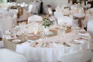"Burlap Table Runner 14""x108"" inch Wedding 100% Natural Jute 1-100 pieces USA"