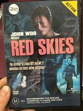 John Woo Presents - Red Skies ex-rental region 4 DVD (2002 action movie) RARE