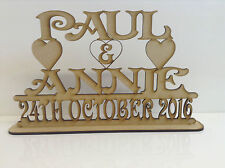 MDF, Personalised Wedding Sign Names and Date. 30 by 20cms