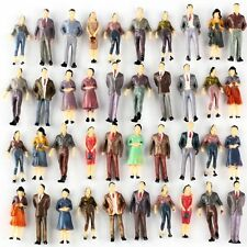100Pcs 1:50 Scale O Gauge Hand Painted Layout Model Train People Figure