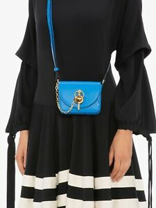 J.W. Anderson Pacific Blue Nano Keyts Leather Crossbody Belt Bag Handbag