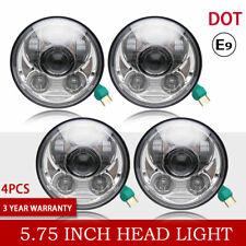 "5 3/4"" Round Chrome Projector LED Headlights Sealed Conversion HID Headlamp 4Set"