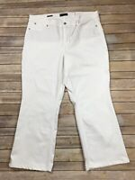 Talbots Flawless Five Pocket Pants Size 20 Bootcut Curvy White Casual