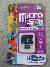 Integral SD Adaptor, Mini Adaptor and Micro SD - Unopened