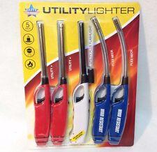 Elite Utility Lighter 5 Pack Adjustable Wind Resistant BBQ Grills Candles