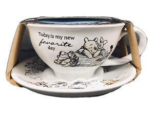 Disney Winnie The Pooh & Friends 12oz Tea Cup & Saucer Set New NIP