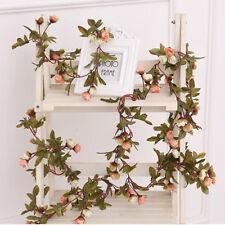Artificial Fake Silk Rose Flower Ivy Vine Hanging Garland Wedding Decor Party