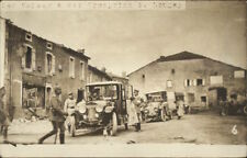 Longwy France WWI Kaiser & Kronprinz - Car & Bldgs Real Photo Postcard