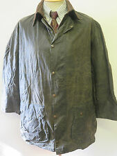 "Barbour A200 Border Waxed jacket - L 46"" Euro 56 in Sage"