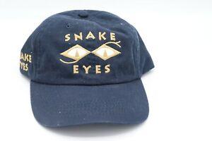 VINTAGE SNAKE EYES GEAR HEAD TRUCKER HAT CAP BLACK RARE head gear